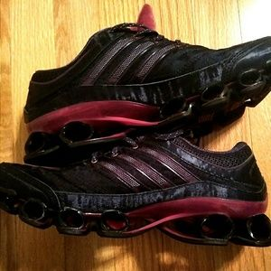 Purple Addidas sneakers